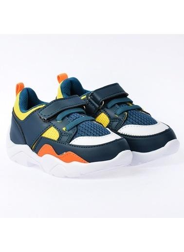 Kiko Kids Kiko S19 Günlük Fileli Cırtlı Kız/Erkek Çocuk Spor Ayakkabı Petrol